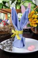 Napkin Easter Bunny