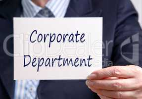 Corporate Department
