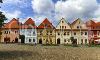 Old town houses in Bardejov, Slovakia
