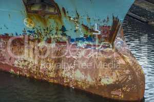 Bug eines Frachtschiffes