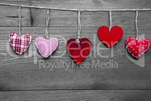Loving Greeting Card With Red Hearts