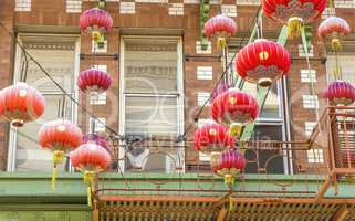 Red lanterns in San Francisco Chinatown