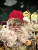Smiling Santa Claus on a blurred background