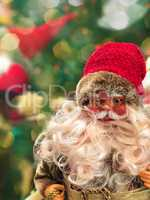 Smiling Santa Claus in glasses