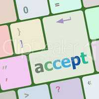 accept on computer keyboard key enter button