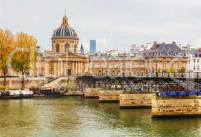 Pont des Arts leading to the Institut de France