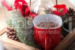 Christmas cocoa in mug