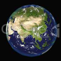 Asia seen from space 3d illustration Elements of this image furnished by NASA