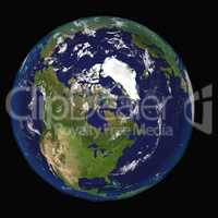 North America Canada USA from space. Elements of this 3d image furnished by NASA