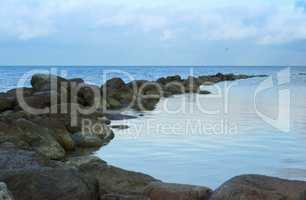 Bay with rocky coast