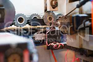 Edging PVC. Photo of cutter machine, close-up