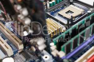 Processor into the motherboard socket