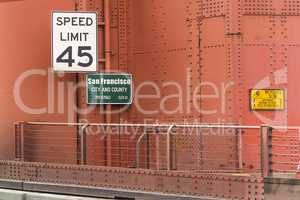 Speed limit at Golden Gate Bridge