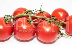 Rote Tomaten freigestellt auf weißem Hintergrund