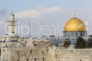 Felsendom und Klagemauer, Jerusalem, Israel, Dom of the Rock and