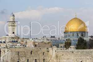 Felsendom und Klagemauer, Jerusalem, Israel, Dom of the Rock and