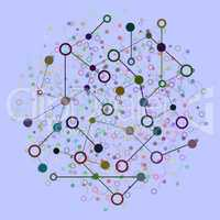 Social Network Graphic Concept. Abstract Background with Dots Array and Lines. Geometric Modern Technology Concept. Connection Structure. Digital Data Visualization