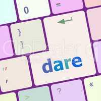 dare word on computer keyboard key