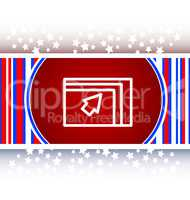 Folder icon web button with map