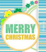 Merry Christmas and Happy New Year lettering Greeting Card.