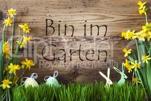 Easter Decoration, Gras, Im Garten Means In The Garden