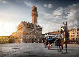 Horse on Piazza della Signoria