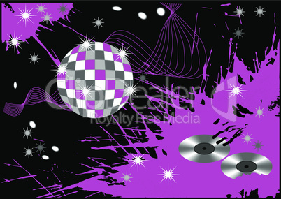 abstract disco blot background
