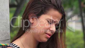 Hurt And Tearful Female Teen