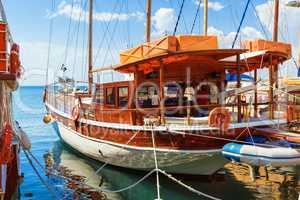 Wooden pleasure ship