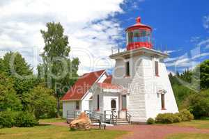 St. Martins tourist info center replica of old light house
