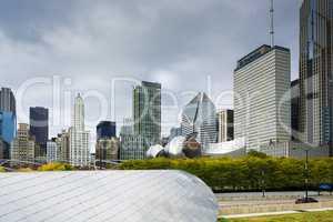 Chicago cityscape from millennium park