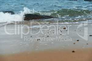 sea wave waves beat on the rocks