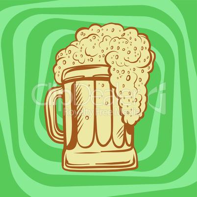 mug of foamy beer