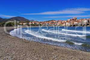 Banyuls-sur-Mer in Frankreich - the town Banyuls-sur-Mer in France