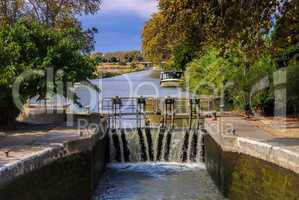 Canal du Midi Schleuse - Canal du Midi water lock