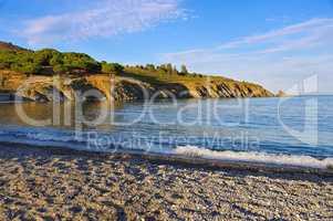 Cote Vermeille, Strand in Frankreich - Cote Vermeille, beach in France