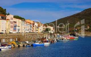 Port-Vendres in Frankreich - the town Port-Vendres in France