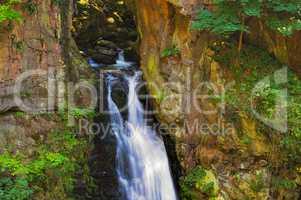 Wölfelfall Wasserfall im Glatzer Land, Schlesien - waterfall Woelfelfall in Silesia