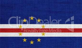 Fahne von Kap Verde auf altem Leinen