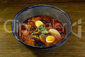 Asian ramen soup