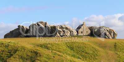 The little house inside the rocks