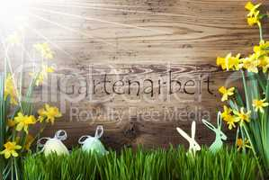 Sunny Easter Decoration, Gras, Gartenarbeit Means Gardening