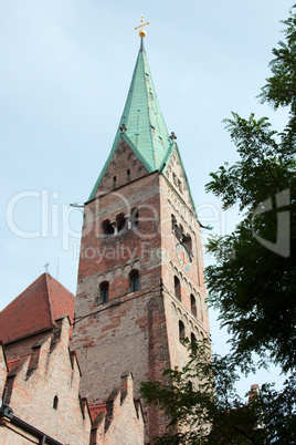Cathedral in center of Augsburg