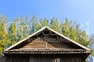 Details of Southern Thai house Gable roof.