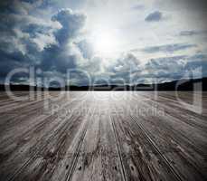 Background wood floor