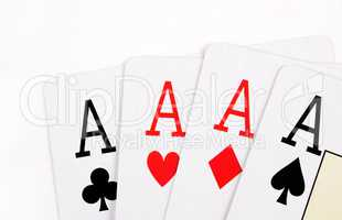 Poker aces.