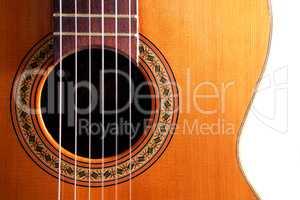 Spanish guitar detail