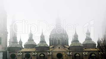 Domes of the Basilica del Pilar,zaragoza