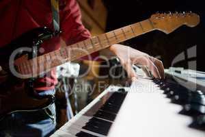 Musician in concert