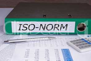 Iso Norm binder in the office